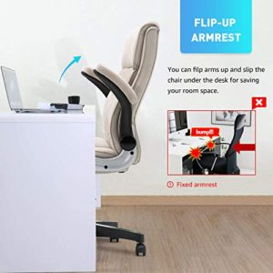 B2C2B Ergonomic Executive Office Chair Fabric Computer Desk Chair Adjustable Racing Chair Task Swivel Chair Armrest Thick Padding For Comfort And Ergonomic Design For Lumbar Support Beige 0 1