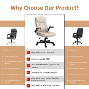 B2C2B Ergonomic Leather Executive Office Chair Computer Desk Chair Adjustable Racing Chair Task Swivel Chair Armrest And Lumbar Support 0 0
