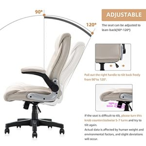 B2C2B Ergonomic Leather Executive Office Chair Computer Desk Chair Adjustable Racing Chair Task Swivel Chair Armrest And Lumbar Support 0 3