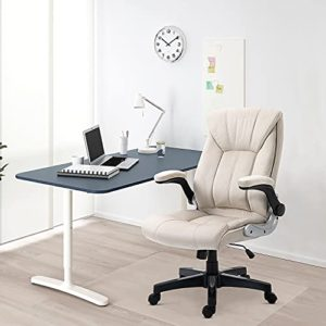 B2C2B Ergonomic Leather Executive Office Chair Computer Desk Chair Adjustable Racing Chair Task Swivel Chair Armrest And Lumbar Support 0 5