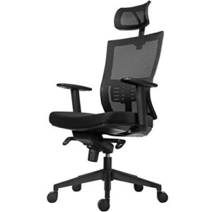 Becko Office Chair Ergonomic Home Office Desk Chair With Mesh Computer Chair With Comfy Seat Cushion Breathable Backrest Adjustable Lumbar Support Armrests Headrest 0