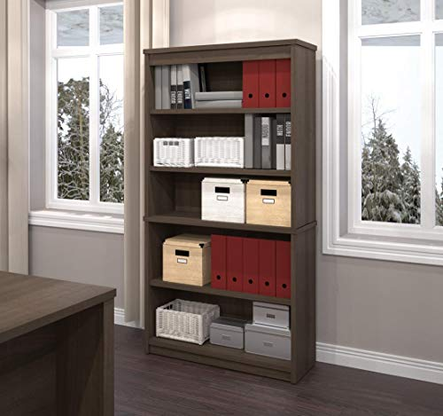 Bestar Logan Collection 3 Piece Set Including An U Or L Shaped Desk With Hutch A Lateral File Cabinet And A Bookcase 0 2