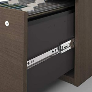 Bestar Logan Collection 3 Piece Set Including An U Or L Shaped Desk With Hutch A Lateral File Cabinet And A Bookcase 0 3