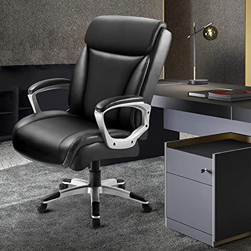 Comhoma Office Executive Chair High Back Comfortable Ergonomic Managerial Chair Adjustable Home Office Desk Chair Swivel Black 0 0