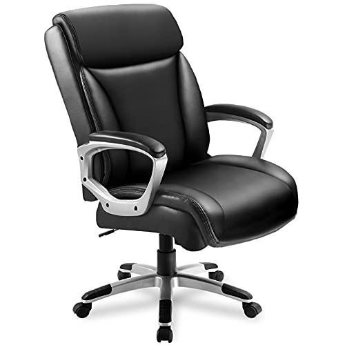 Comhoma Office Executive Chair High Back Comfortable Ergonomic Managerial Chair Adjustable Home Office Desk Chair Swivel Black 0