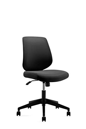 Ergonomics Shield Shape Backrest Swivel Office Chair Computer Chair With Breathable Mesh Thick Seat Cushion And Black Back Frame 0 0