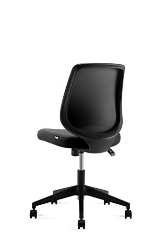 Ergonomics Shield Shape Backrest Swivel Office Chair Computer Chair With Breathable Mesh Thick Seat Cushion And Black Back Frame 0 1