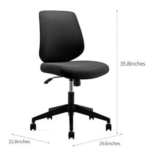 Ergonomics Shield Shape Backrest Swivel Office Chair Computer Chair With Breathable Mesh Thick Seat Cushion And Black Back Frame 0 3