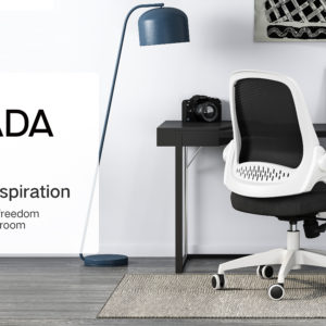 Hbada Office Task Desk Chair Swivel Home Comfort Chairs With Flip Up Arms And Adjustable Height White 0 4