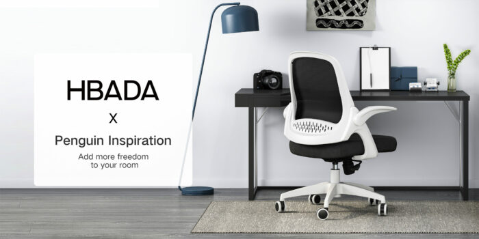 Hbada Office Task Desk Chair Swivel Home Comfort Chairs With Flip Up Arms And Adjustable Height White 0 4 Scaled