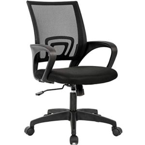 Home Office Chair Ergonomic Desk Chair Mesh Computer Chair With Lumbar Support Armrest Executive Rolling Swivel Adjustable Mid Back Task Chair For Women Adults Black 0