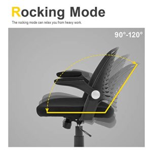 Home Office Chair Executive Rolling Swivel Ergonomic Chair Computer Chair With Flip Up Arms Lumbar Support Task Mesh Chair Heavy Duty Metal Base Desk Chairsblack 0 0