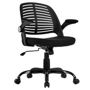 Home Office Chair Executive Rolling Swivel Ergonomic Chair Computer Chair With Flip Up Arms Lumbar Support Task Mesh Chair Heavy Duty Metal Base Desk Chairsblack 0