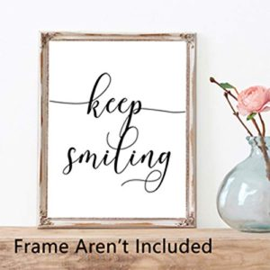 Inspirational Quotesaying Art Paintingwork Hardbe Kindstay Humblekeep Smiling Art Print Set Of 4 8X10 Canvas Picturemotivational Phrases Wall Art For Office Or Living Room Home Decorno Frame 0 2