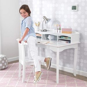 Kidkraft Avalon Wooden Childrens Desk With Hutch Chair And Storage White Gift For Ages 5 10 0 0