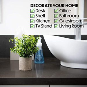 Modern Farmhouse Bathroom Decor Small Plants Decor Table Centerpieces Decorations For Dining Room Office Desk Kitchen Living Room Shelf Fake Plant Artificial Plant Flowers Faux House Indoor 2 Pack 0 0