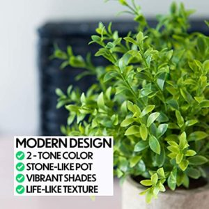 Modern Farmhouse Bathroom Decor Small Plants Decor Table Centerpieces Decorations For Dining Room Office Desk Kitchen Living Room Shelf Fake Plant Artificial Plant Flowers Faux House Indoor 2 Pack 0 1