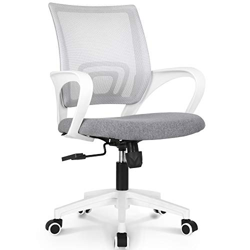 Neo Chair Office Chair Computer Desk Chair Gaming Ergonomic Mid Back Cushion Lumbar Support With Wheels Comfortable Blue Mesh Racing Seat Adjustable Swivel Rolling Home Executive Grey 0