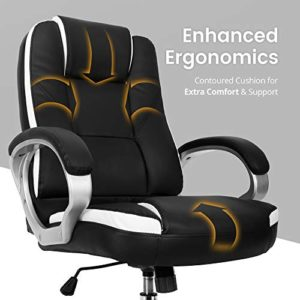 Neo Chair Office Chair Computer Desk Chair Gaming Ergonomic High Back Cushion Lumbar Support With Wheels Comfortable Black Leather Racing Seat Adjustable Swivel Rolling Home Executive 0 0