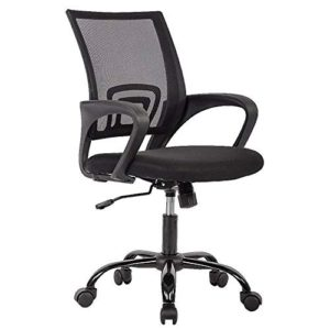 Office Chair Ergonomic Cheap Desk Chair Mesh Computer Chair Lumbar Support Modern Executive Adjustable Stool Rolling Swivel Chair For Back Pain Black 0