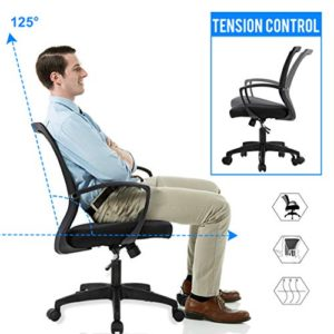 Office Chair Ergonomic Desk Chair Mesh Computer Chair With Lumbar Support Armrest Mid Back Rolling Swivel Adjustable Task Chair For Women Adults Black 0 0