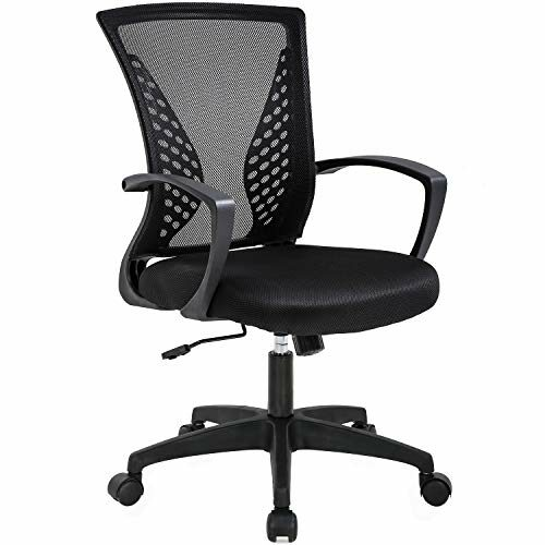 Office Chair Ergonomic Desk Chair Mesh Computer Chair With Lumbar Support Armrest Mid Back Rolling Swivel Adjustable Task Chair For Women Adults Black 0