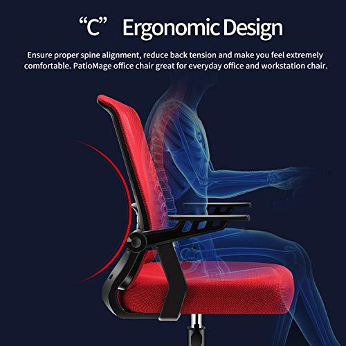 Office Chairpatiomage Gaming Chair Ergonomic Mesh Computer Chair Lumbar Support Comfortable Task Chair Desk Chair For Adults Men Women 0 1
