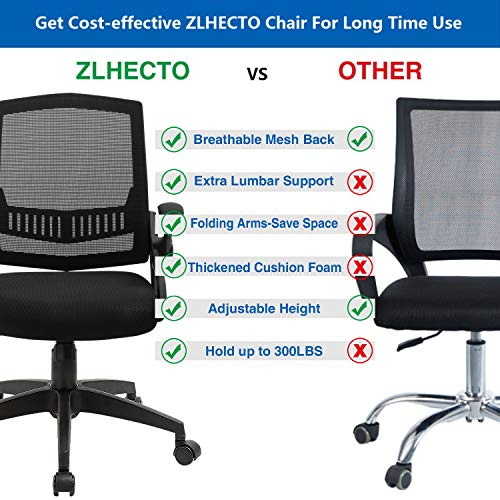 Office Chairs Mid Back Computer Desk Chairs With Ergonomic Back Swivel Task Chairs With Thick Cushion Upgraded Huge Cushion Foam Load Up To 300Lbs 0 1