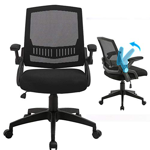 Office Chairs Mid Back Computer Desk Chairs With Ergonomic Back Swivel Task Chairs With Thick Cushion Upgraded Huge Cushion Foam Load Up To 300Lbs 0