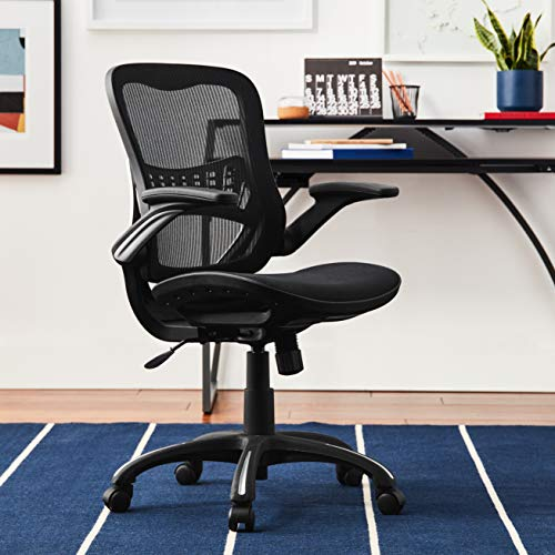 Office Star Mesh Back Seat 2 To 1 Synchro Lumbar Support Managers Chair Black 0 4