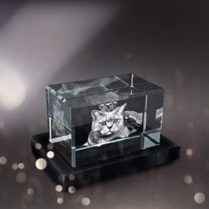 Pix Crystal 3D Crystal Photo Personalized Home Office Decor Glass 3D Hologram Paperweight Easter Gifts Gifts For Mom Birthday Gifts For Women Men Landscape Small 0 1
