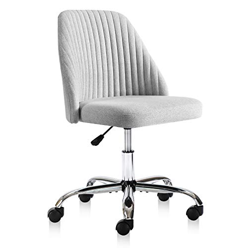 Rimiking Home Office Modern Twill Fabric Adjustable Mid Back Task Ergonomic Executive Chair Gray 0