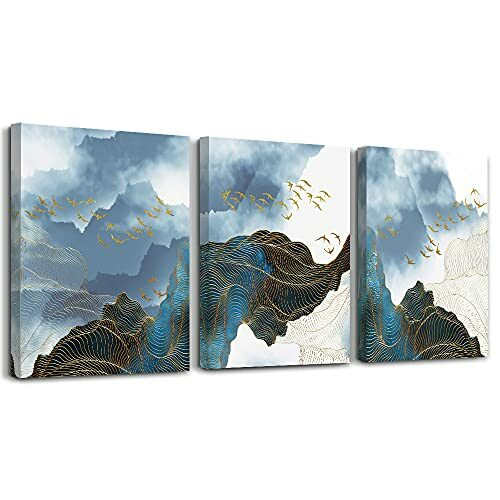 Wall Decor For Living Room Canvas Wall Art For Bedroom Modern Family Bathroom Canvas Art Kitchen Fashion Abstract Pictures Artwork Office Wall Paintings Ready To Hang Home Decoration 12 X 16 3 Piece 0