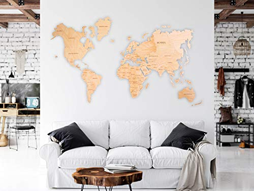 World Map Wall Art Wooden Map Wall World Map Wooden Travel Push Pin Map Rustic Home Farmhouse Decor Rustic Wall Art For Home Kitchen Wall Art For Office 0 0