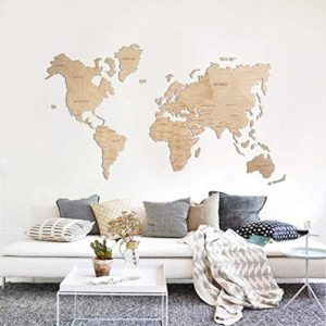 World Map Wall Art Wooden Map Wall World Map Wooden Travel Push Pin Map Rustic Home Farmhouse Decor Rustic Wall Art For Home Kitchen Wall Art For Office 0 1