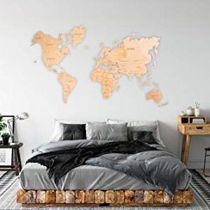 World Map Wall Art Wooden Map Wall World Map Wooden Travel Push Pin Map Rustic Home Farmhouse Decor Rustic Wall Art For Home Kitchen Wall Art For Office 0 4