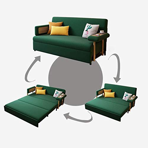 2 In 1 Folding Sofa Couch Bedloveseat Sleeper Sofa Convertible Bedpull Out Futon Couchfabric Padded Sofabed 3 Inclining Positions Sofa Settee With Armrestssofa Furniture Living Roomgreen196M 0 0