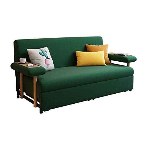 2 In 1 Folding Sofa Couch Bedloveseat Sleeper Sofa Convertible Bedpull Out Futon Couchfabric Padded Sofabed 3 Inclining Positions Sofa Settee With Armrestssofa Furniture Living Roomgreen196M 0