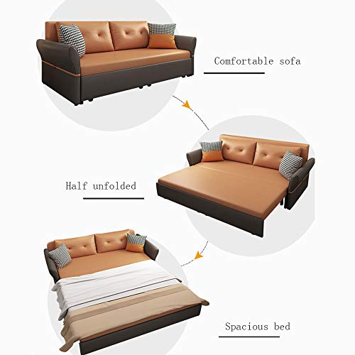 Luxury Sofa Bed Loveseat Sleeper Pull Out Futon Couchmultifunctional Solid Wood Folding Sofa Furniture With Storageergonomic Design Seat Cushion For Living Room Apartment18M 0 0