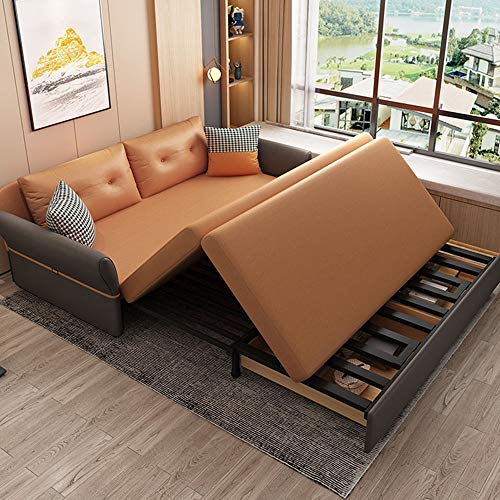 Luxury Sofa Bed Loveseat Sleeper Pull Out Futon Couchmultifunctional Solid Wood Folding Sofa Furniture With Storageergonomic Design Seat Cushion For Living Room Apartment18M 0 3