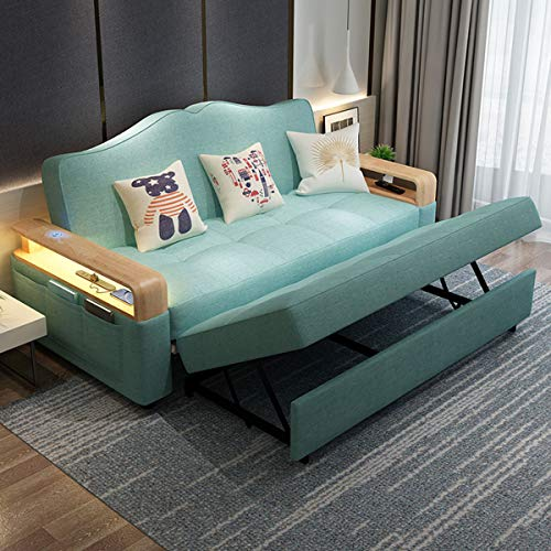 New Foldable Futon Couchconvertible Sleeper Sofa Bed With Induction Night Lightmultifunctional Storage Loveseat Pull Out Sofa For Living Room Apartment Small Space Furniturewashable185M 0 3