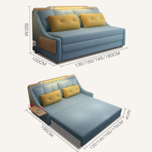 New Upgrade Convertible Sleeper Sofa Bedliving Room With Night Light And Coffee Table Loveseat Fold Out Storage Sofa Bedeuropean Futon Couch Furniture For Apartment And Small Spacewashable15M 0 2
