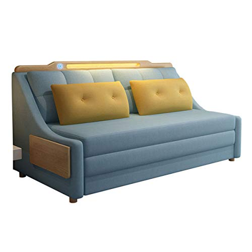New Upgrade Convertible Sleeper Sofa Bedliving Room With Night Light And Coffee Table Loveseat Fold Out Storage Sofa Bedeuropean Futon Couch Furniture For Apartment And Small Spacewashable15M 0