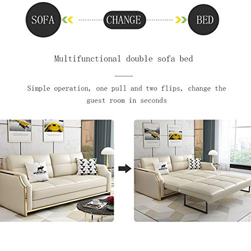 Premium Convertible Sofa Futon With Space Saving Storage Compartments Sofa Bed Couch For Living Roomergonomic Designfoldable Loveseat Sleeper Sofa Furniture Decorationwhite205M 0 0