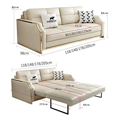 Premium Convertible Sofa Futon With Space Saving Storage Compartments Sofa Bed Couch For Living Roomergonomic Designfoldable Loveseat Sleeper Sofa Furniture Decorationwhite205M 0 1