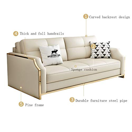 Premium Convertible Sofa Futon With Space Saving Storage Compartments Sofa Bed Couch For Living Roomergonomic Designfoldable Loveseat Sleeper Sofa Furniture Decorationwhite205M 0 3