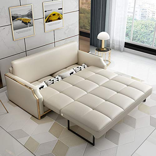Premium Convertible Sofa Futon With Space Saving Storage Compartments Sofa Bed Couch For Living Roomergonomic Designfoldable Loveseat Sleeper Sofa Furniture Decorationwhite205M 0 5