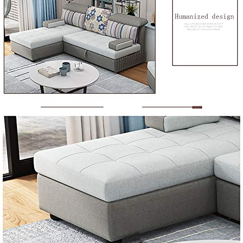 Snd A Couches For Living Room Pull Out Folding Sofa Bed Multifunctional Corner Storage Sofa Bedeasily Assemble Couch Couch Beds For Bedrooms Villa Furnituregray 0 3