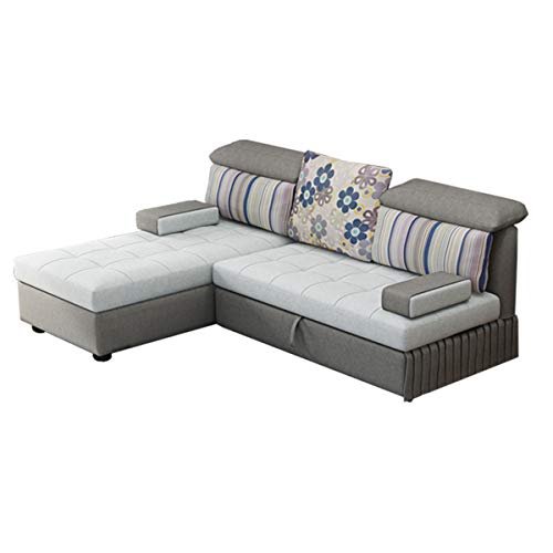 Snd A Couches For Living Room Pull Out Folding Sofa Bed Multifunctional Corner Storage Sofa Bedeasily Assemble Couch Couch Beds For Bedrooms Villa Furnituregray 0