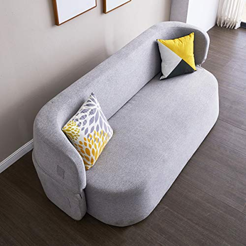 Snd A Creative Folding Lazy Sofamodern Living Room Furnituremultifunction Fabric Futon Couches Loveseat Sleeper Pull Out Couch Sofa Convertible Bed Comfortable Cushionwashable 0 2